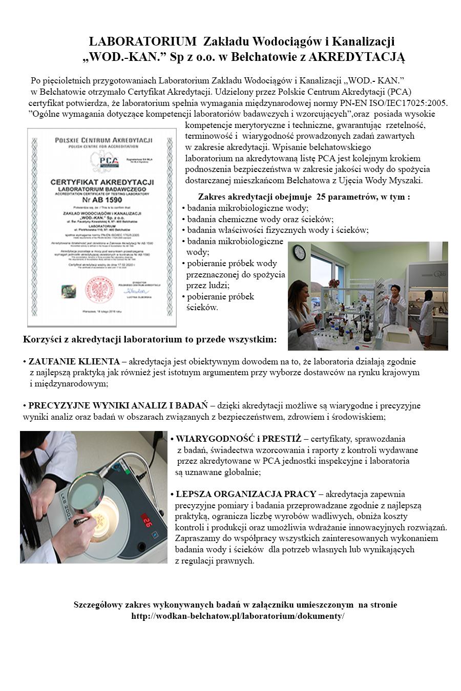 Laboratorium z akredytacją